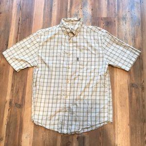 Woolrich Men's Medium Plaid Short Sleeve Button Up